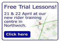 Free trial lessons at our new training centre in Northwich